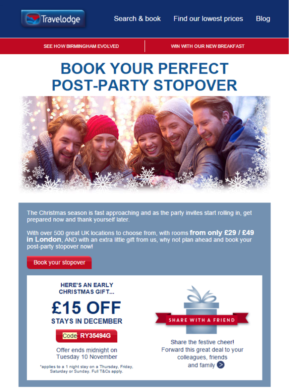 companies using festive discount coupons in emails and what you coupons4 dec15